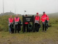 FKL Volunteer Team at Ridge Trail Sign